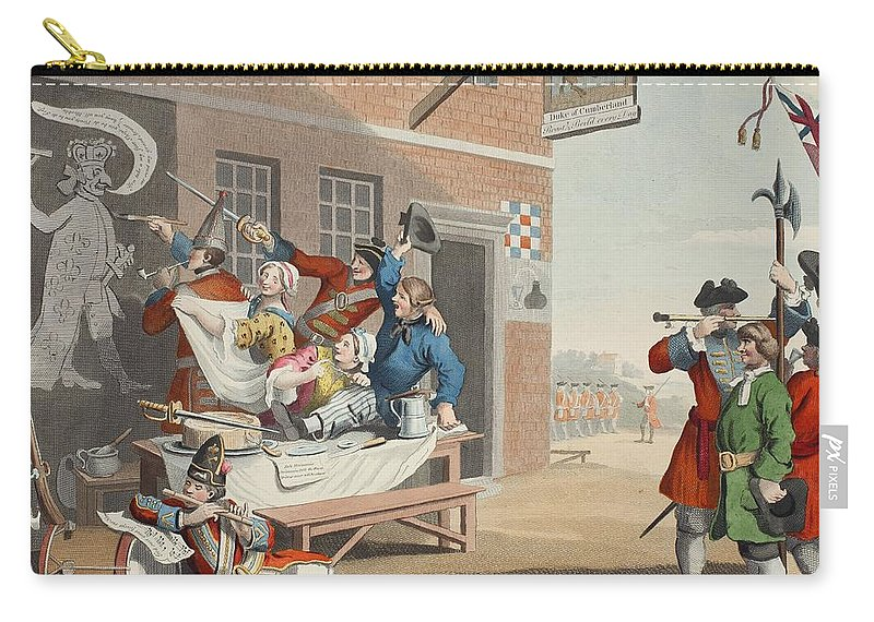 Allegory Carry-all Pouch featuring the drawing England, Illustration From Hogarth by William Hogarth
