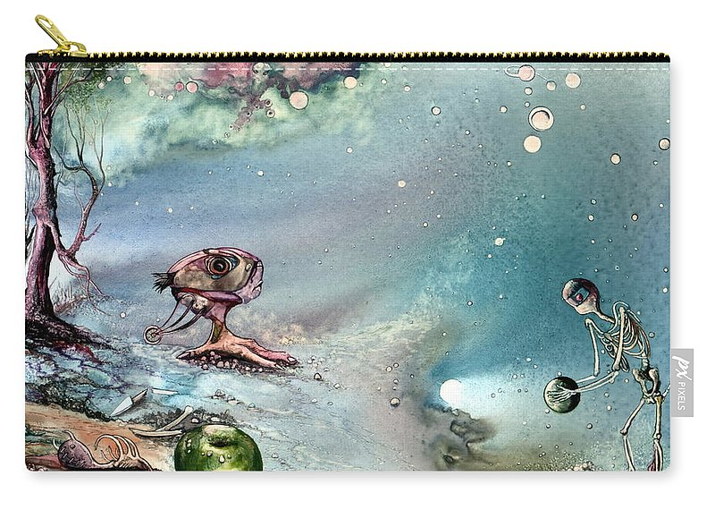 Creation Carry-all Pouch featuring the painting Enigma by Mikhail Savchenko