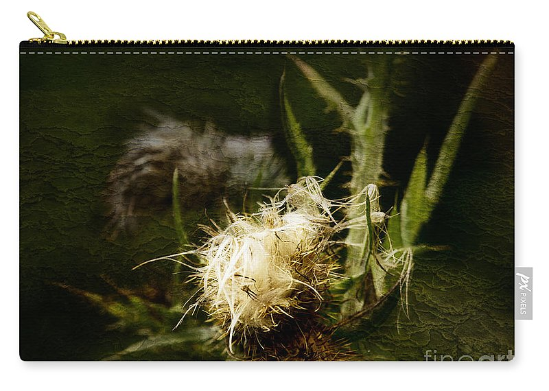 Milkweed Carry-all Pouch featuring the photograph Enigma No 1 by Belinda Greb