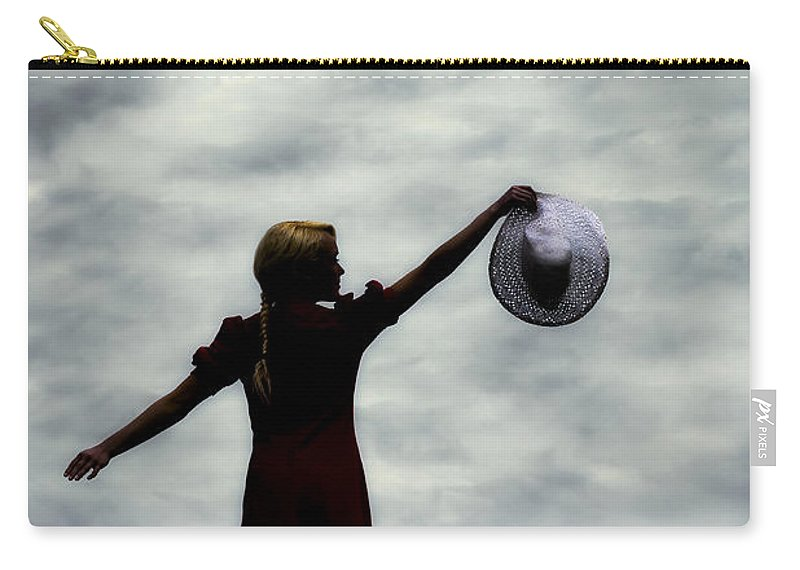 Girl Carry-all Pouch featuring the photograph Enjoying Dawn by Joana Kruse