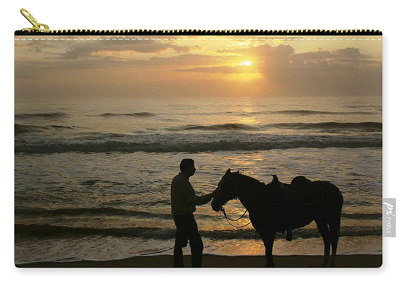 Sunrise Carry-all Pouch featuring the photograph Enjoying The Sunrise by Myrna Bradshaw