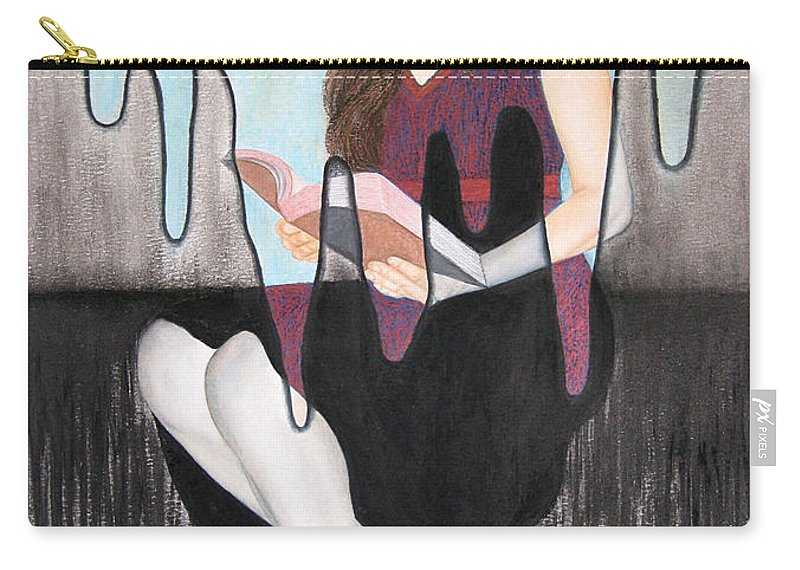 Enlightenment Carry-all Pouch featuring the painting Enlightenment by Lynet McDonald