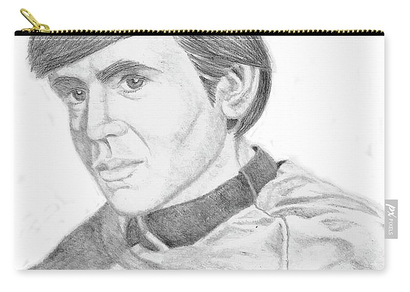 Starship Carry-all Pouch featuring the digital art Ensign Pavel Chekov by Thomas J Herring