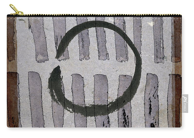 Japan Carry-all Pouch featuring the photograph Enso Circle On Japanese Papers by Carol Leigh