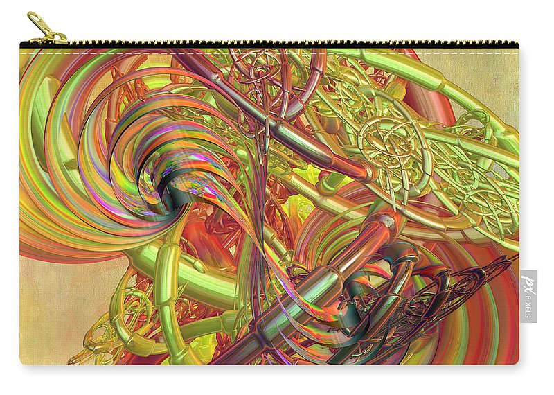 Digital Abstract Carry-all Pouch featuring the digital art Entanglement Of Life by Deborah Benoit