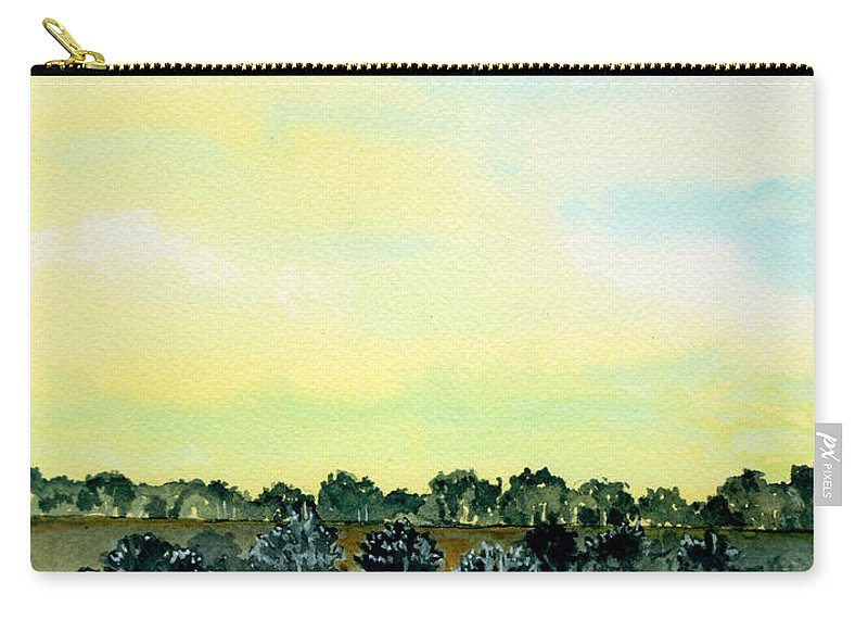 Landscape Carry-all Pouch featuring the painting Entering The Shire by Brenda Owen