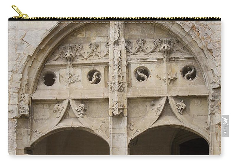 Cloister Carry-all Pouch featuring the photograph Entrance Fontevraud Abbey- France by Christiane Schulze Art And Photography