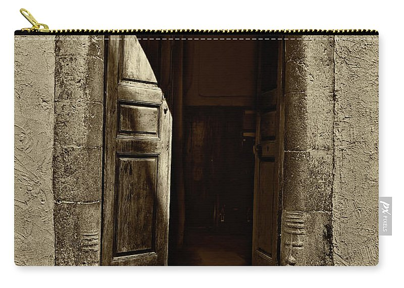 Entrance Carry-all Pouch featuring the photograph Entrance by Roberto Pagani