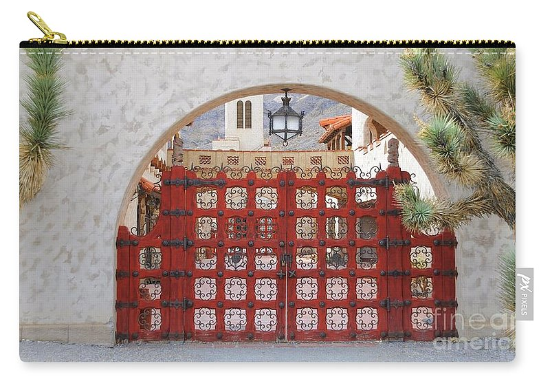 Gate Carry-all Pouch featuring the photograph Entrance To Court Yard by Kathleen Struckle