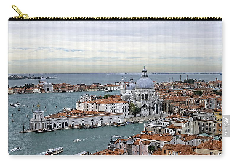 Grand Canal Carry-all Pouch featuring the photograph Entrance To Grand Canal Venice by Tony Murtagh