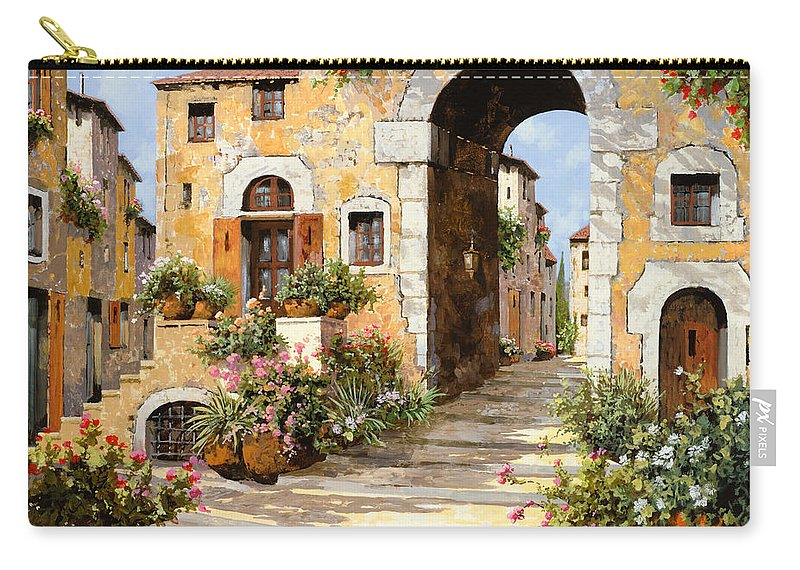 Cityscape Carry-all Pouch featuring the painting Entrata Al Borgo by Guido Borelli