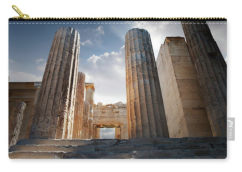 Tranquility Carry-all Pouch featuring the photograph Entryway Into The Acropolis by Ed Freeman