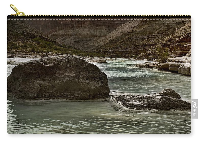 Grand Canyon Carry-all Pouch featuring the photograph Eons In The Making by Ellen Heaverlo