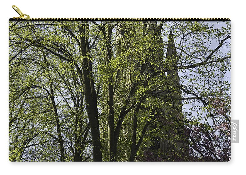 Action Carry-all Pouch featuring the photograph Episcopal Cathedral In Edinburgh Visible Through Trees by Ashish Agarwal