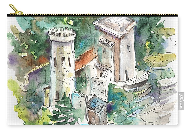 Travel Carry-all Pouch featuring the painting Erice by Miki De Goodaboom
