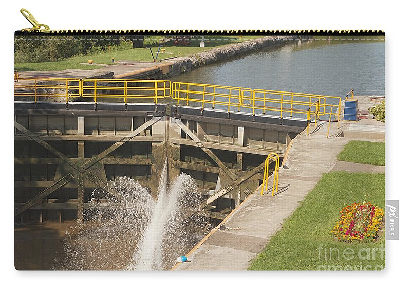 Erie Canal Carry-all Pouch featuring the photograph Erie Canal Lock by William Norton