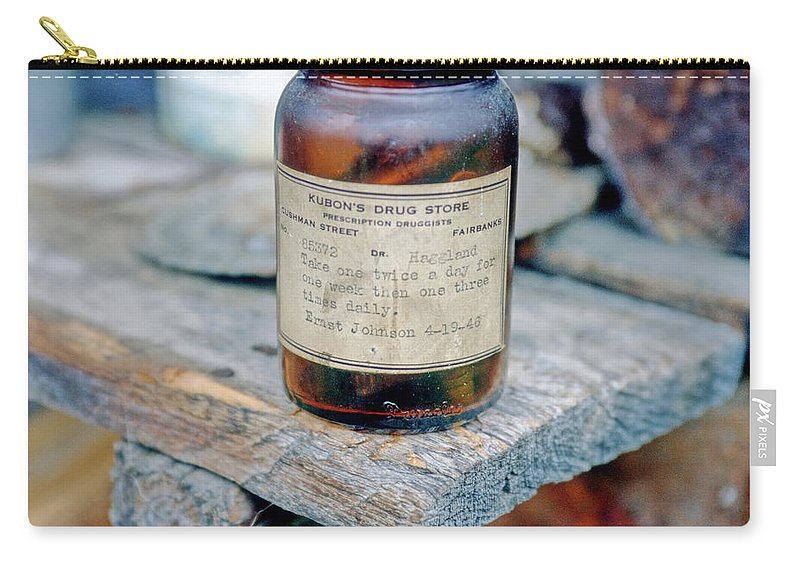 Alaska Carry-all Pouch featuring the photograph Ernie's Cabin 2 by Gary Benson