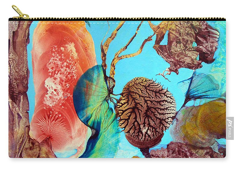 Landscape Carry-all Pouch featuring the painting Ernsthaftes Spiel Im Innerem Erdteil by Otto Rapp