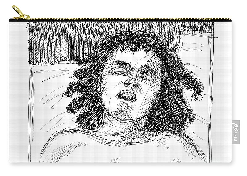 Erotic Renderings Carry-all Pouch featuring the drawing Erotic-drawings-24 by Gordon Punt