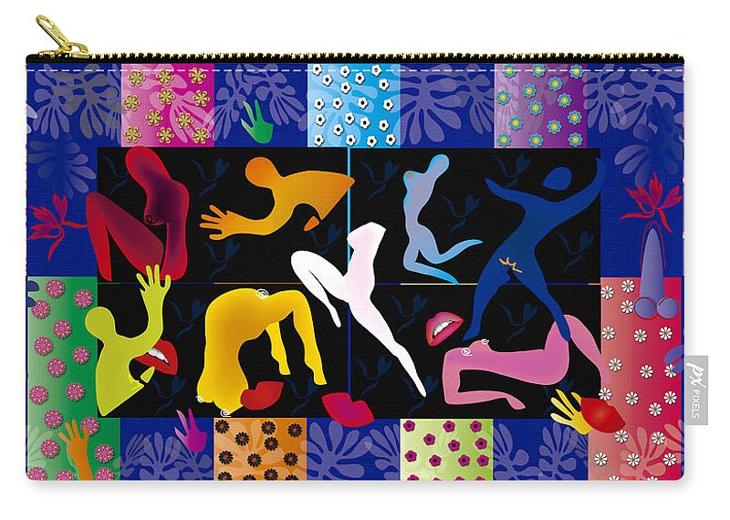 Eroticism Carry-all Pouch featuring the digital art Erotic Matisses - Limited Edition 2 Of 8 by Gabriela Delgado