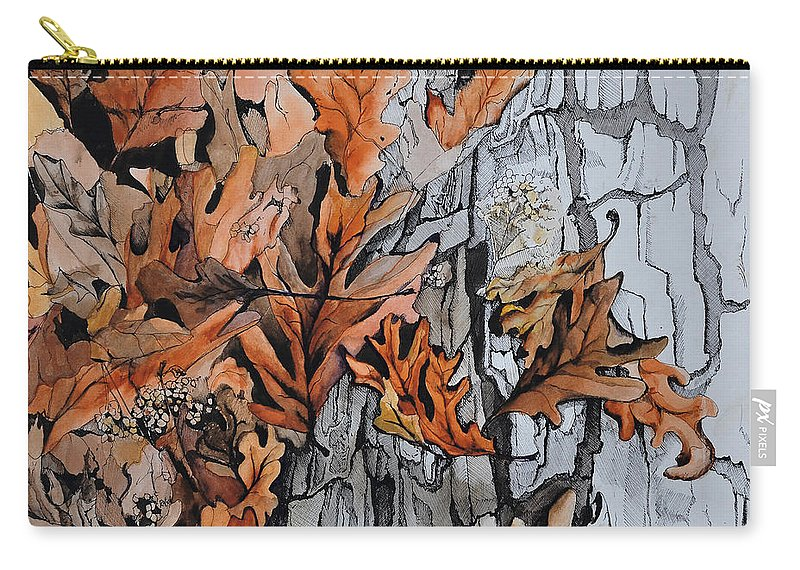 Abstract Carry-all Pouch featuring the painting Eruption I by Rachel Christine Nowicki