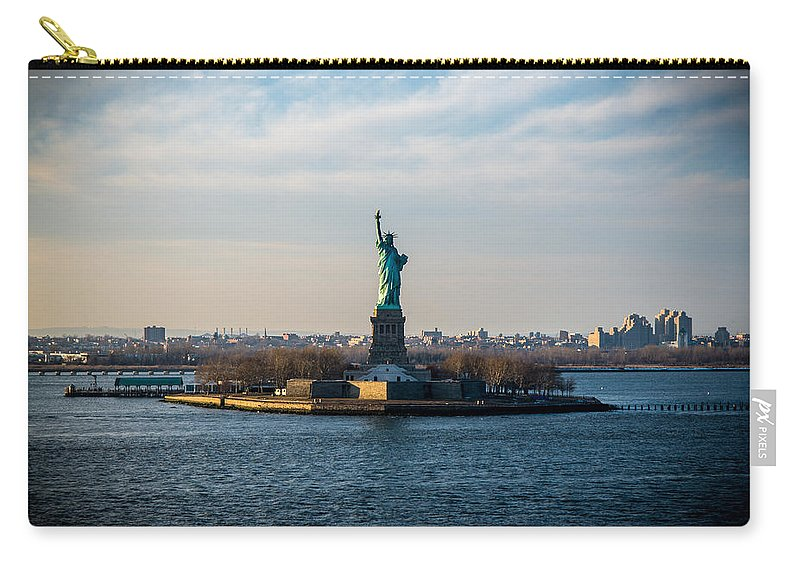 New York Carry-all Pouch featuring the photograph Escape From Ny by Kristopher Schoenleber