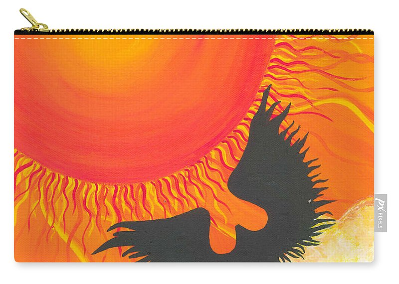 Escape To Paradise Carry-all Pouch featuring the painting Escape To Paradise by Catt Kyriacou