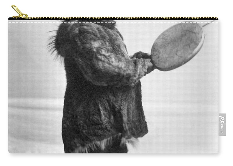 1905 Carry-all Pouch featuring the photograph Eskimo Child, C1905 by Granger
