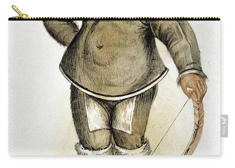 1577 Carry-all Pouch featuring the painting Eskimo Man by Granger