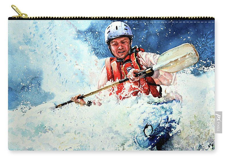 Kayak Carry-all Pouch featuring the painting Eskimo Rolls by Hanne Lore Koehler