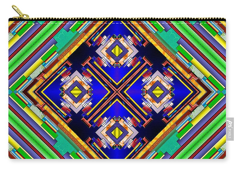 Fractal Illustration Carry-all Pouch featuring the digital art Esoterica by Mario Carini