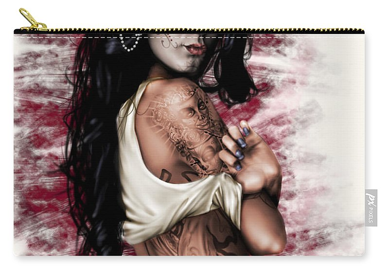 Pete Carry-all Pouch featuring the painting Esperanza Viva by Pete Tapang