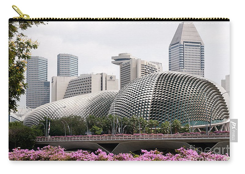 Singapore Carry-all Pouch featuring the photograph Esplanade Theatres 01 by Rick Piper Photography