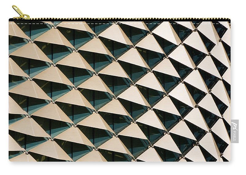 Singapore Carry-all Pouch featuring the photograph Esplanade Theatres Roof 06 by Rick Piper Photography