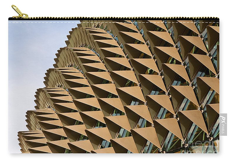 Singapore Carry-all Pouch featuring the photograph Esplanade Theatres Roof 11 by Rick Piper Photography