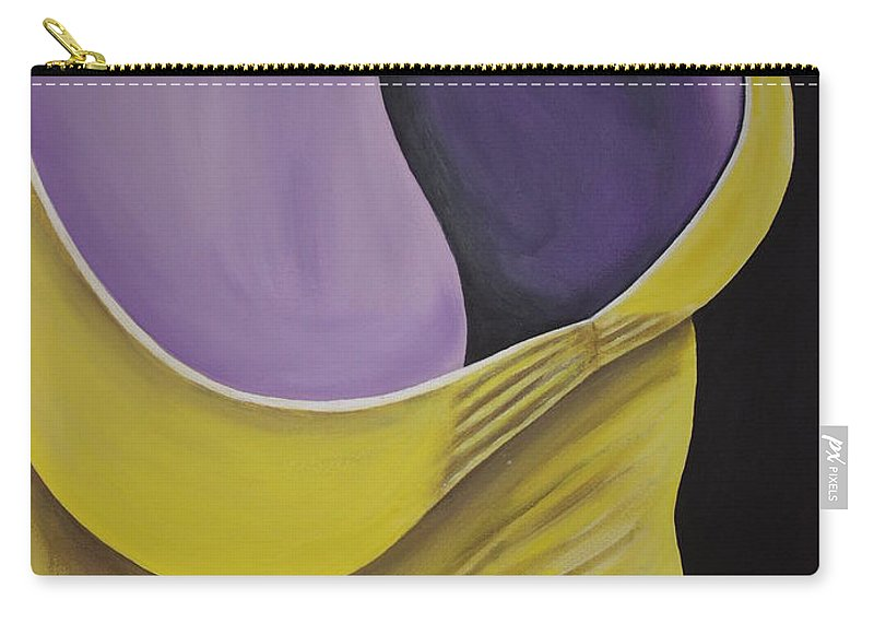 Female Body Carry-all Pouch featuring the painting Essence Of Violet by Dean Stephens