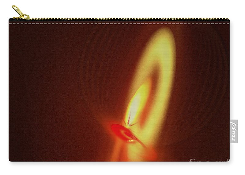 Fractal Carry-all Pouch featuring the digital art Eternal Flame by Victoria Harrington