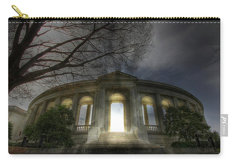 Arlington National Cemetery Carry-all Pouch featuring the photograph Eternal Life by Lori Deiter