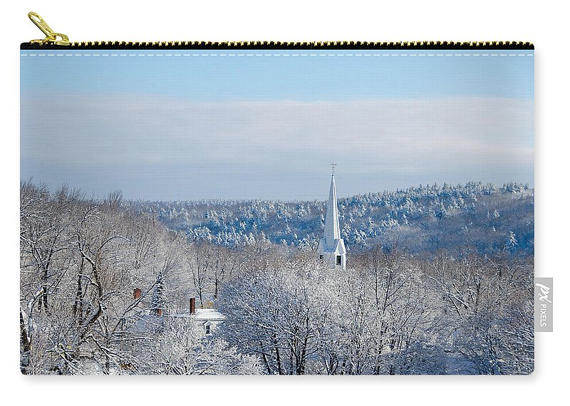 Steeple Carry-all Pouch featuring the photograph Ethereal Steeple by Donna Doherty