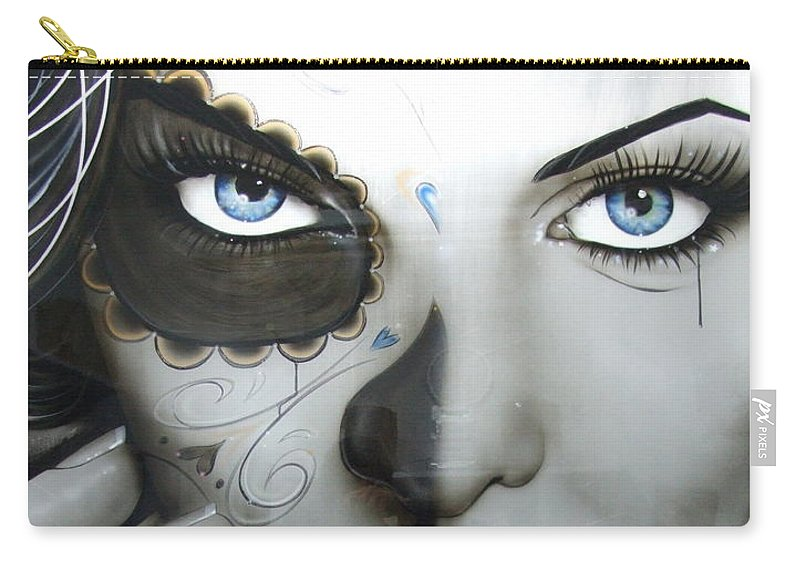 Sparkling Carry-all Pouch featuring the painting Euphoric Angel by Christian Chapman Art