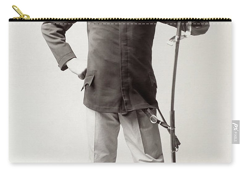 1909 Carry-all Pouch featuring the photograph European Hussar, 1909 by Granger