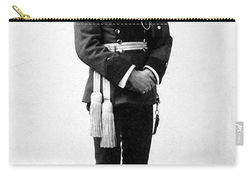 1890 Carry-all Pouch featuring the photograph European Officer, 1890s by Granger