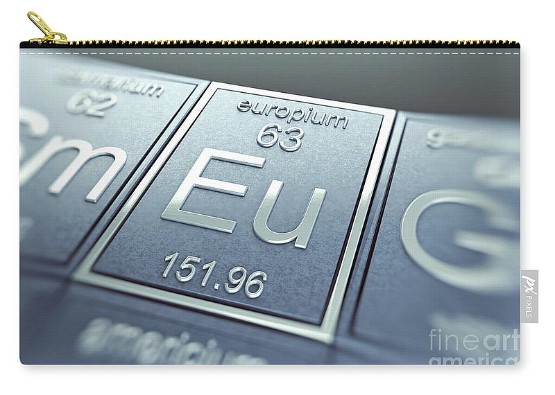 Atomic Number Carry-all Pouch featuring the photograph Europium Chemical Element by Science Picture Co