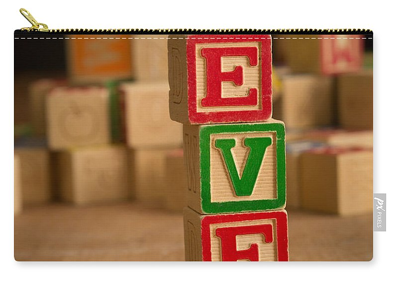 Alphabet Carry-all Pouch featuring the photograph Eve - Alphabet Blocks by Edward Fielding