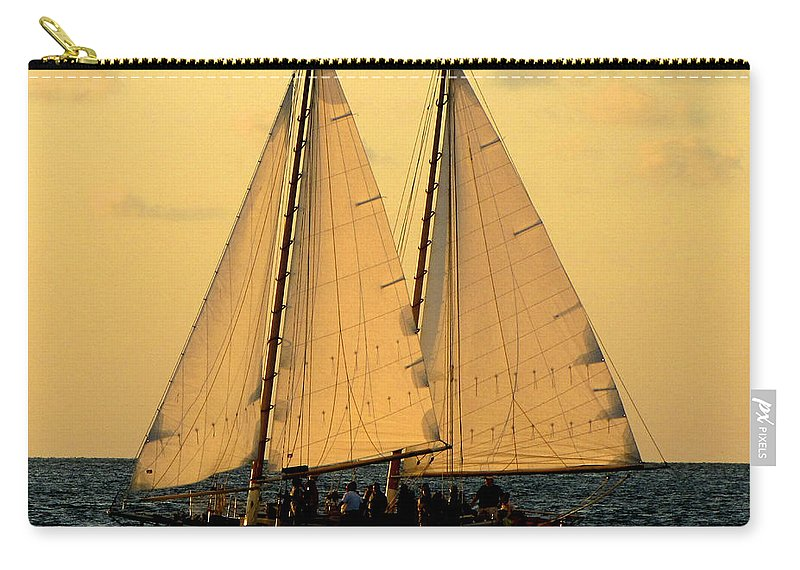 Water Carry-all Pouch featuring the photograph More Sails In Key West by Bob Slitzan