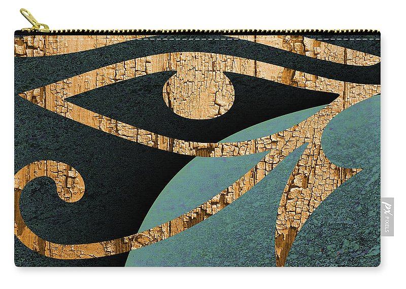 Abstract Carry-all Pouch featuring the digital art Even The Gods Must Die by Jack Bowman