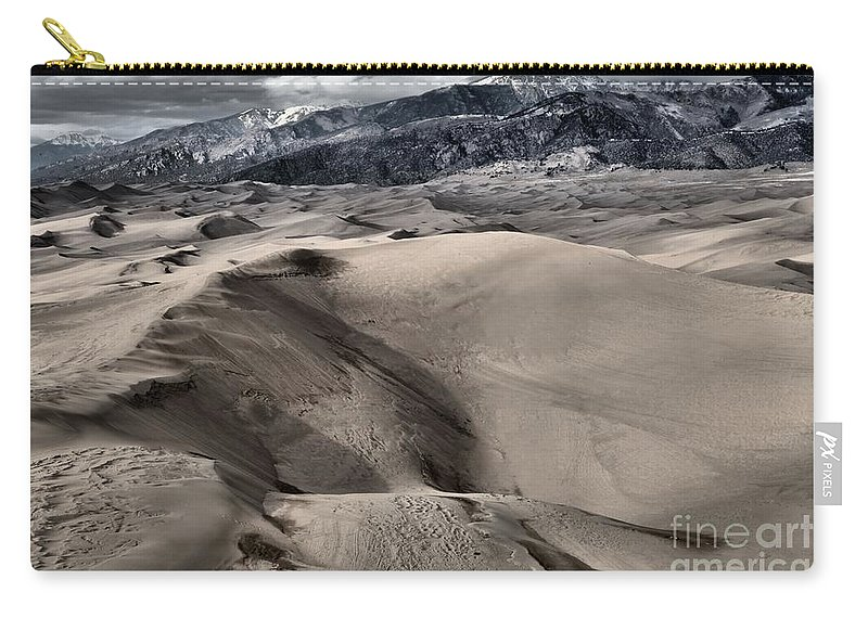 Great Sand Dunes National Park Carry-all Pouch featuring the photograph Evening At The Dunes by Adam Jewell