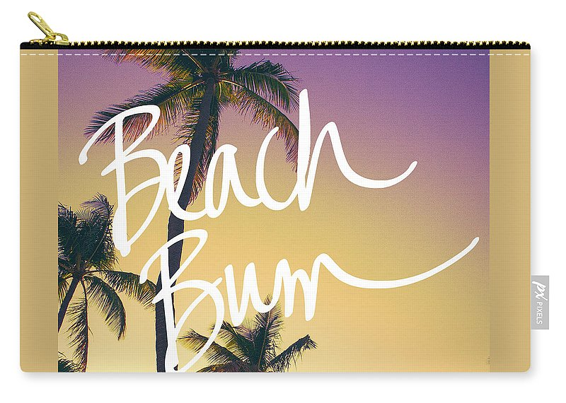 Evening Carry-all Pouch featuring the photograph Evening Beach Bum by Emily Navas