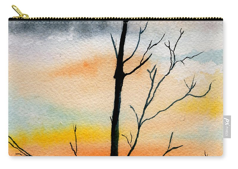 Watercolor Carry-all Pouch featuring the painting Evening Comes by Brenda Owen