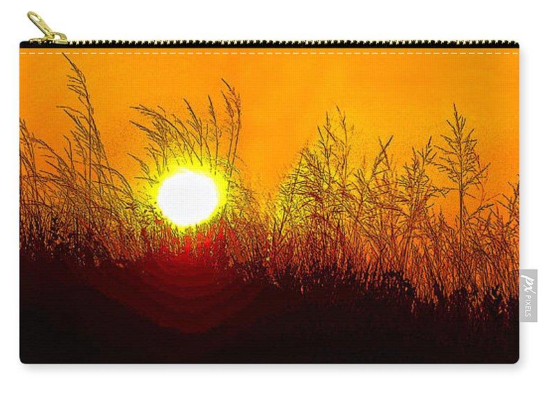Sauble Beach Carry-all Pouch featuring the photograph Evening Dunes by Steve Harrington